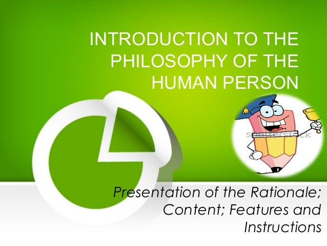 the philosophy of the human person