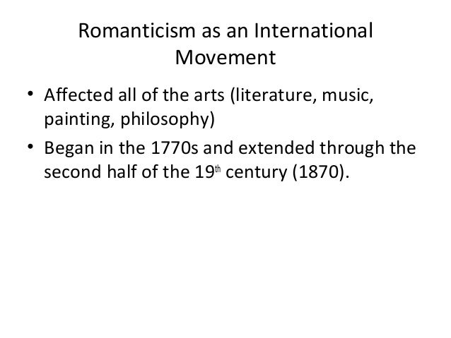 introduction to goethe and romanticism Romanticism: romanticism, attitude or intellectual orientation that characterized many works of literature, painting, music, architecture, criticism, and historiography in western civilization over a period from the late 18th to the mid-19th century.