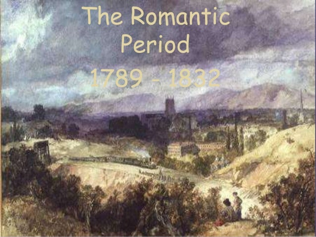 an introduction to the history of the period of romanticism Romanticism (also the romantic era or the romantic period) was an artistic, literary, musical and intellectual movement that originated in europe toward the end of the 18th century, and in most areas was at its peak in the approximate period from 1800 to 1850.