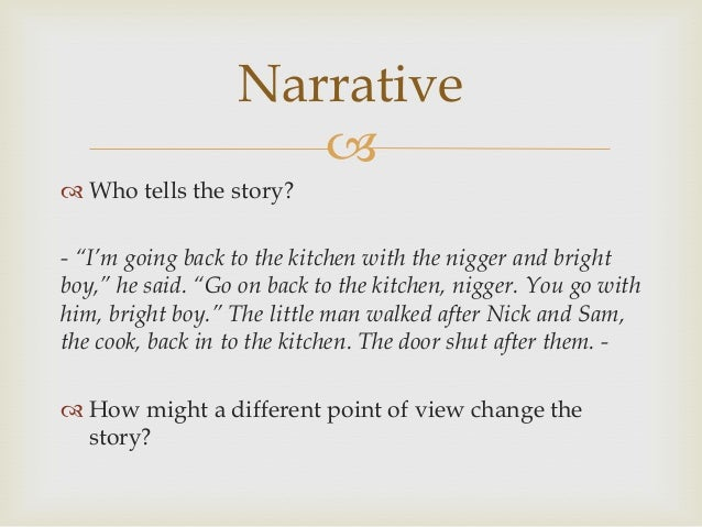 example of narrative report for thesis