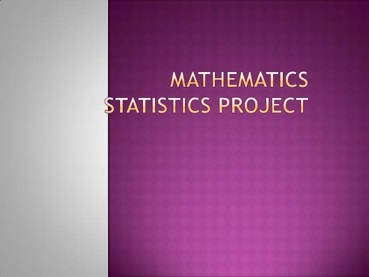 Introduction To The Statistics Project