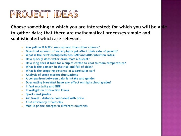 Statistics Project Topics and Research Materials