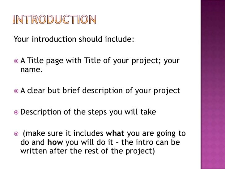 what is an introduction in a project