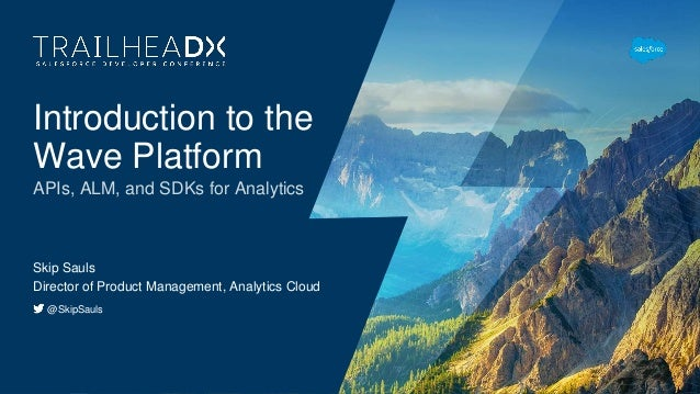 Introduction to the Wave Platform APIs, ALM, and SDKs for Analytics Skip Sauls Director of Product Management, Analytics C...