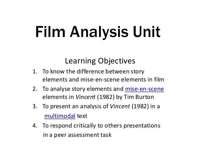 Outline of Film Analysis Unit