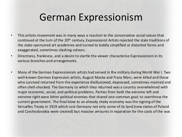 Realism and Expressionism