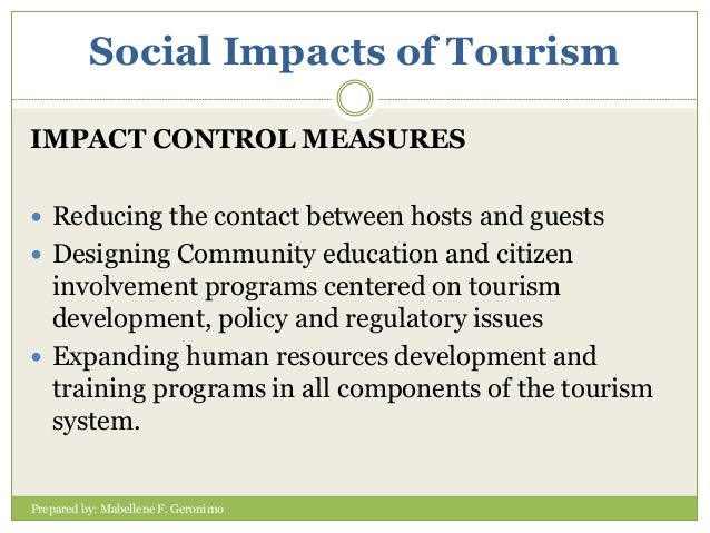 control measures on social tourism Why singapore still needs tobacco control measures a minor fraction of the total social cost for tobacco control tobacco control measures are.