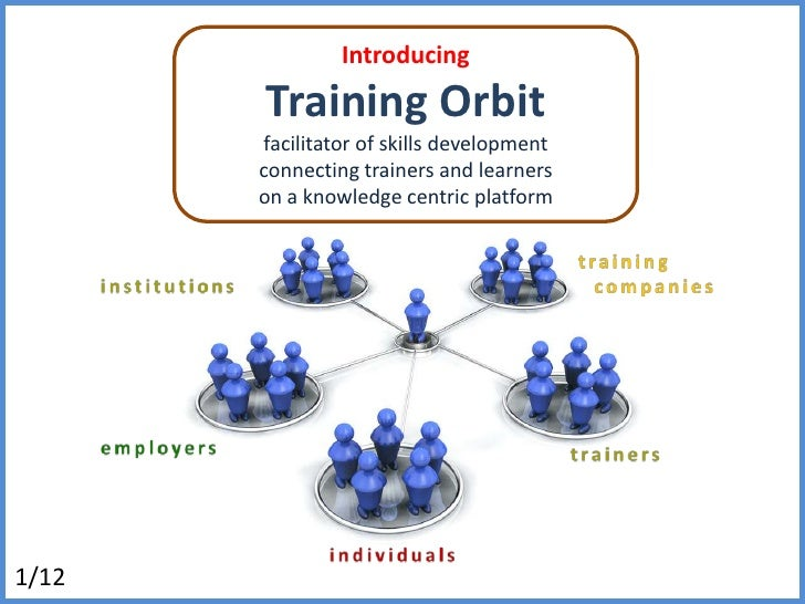Introducing<br />Training Orbit<br />facilitator of skills development<br />connecting trainers and learners<br />on a kno...