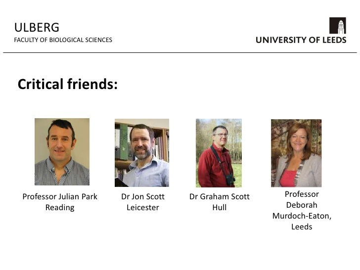 ULBERG<br />FACULTY OF BIOLOGICAL SCIENCES<br />Strategic aims:<br />Undertake innovative research into learning and teach...