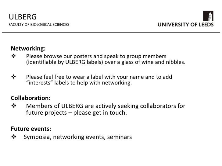 ULBERG<br />FACULTY OF BIOLOGICAL SCIENCES<br />Current funding:<br />