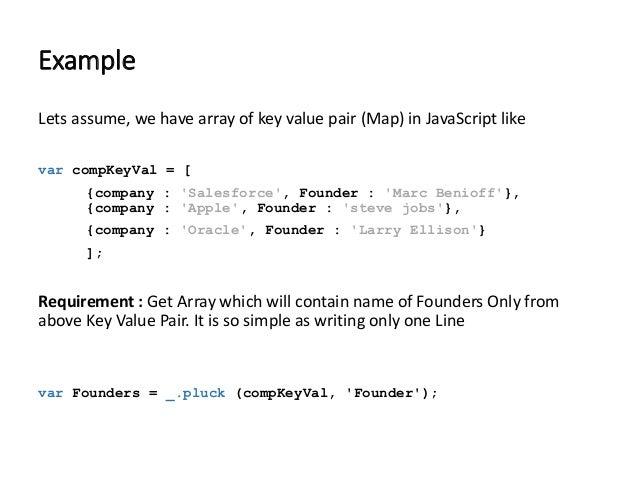 key value pair in javascript