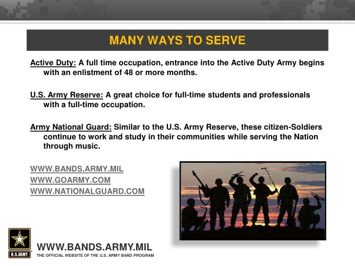 Introduction to us army bands toneelgroepblik Images