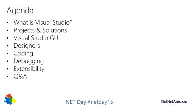 Introduction to visual studio net