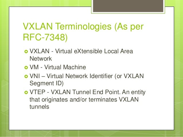 Introduction to vxlan