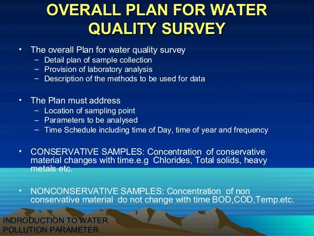 Thesis on water quality parameters