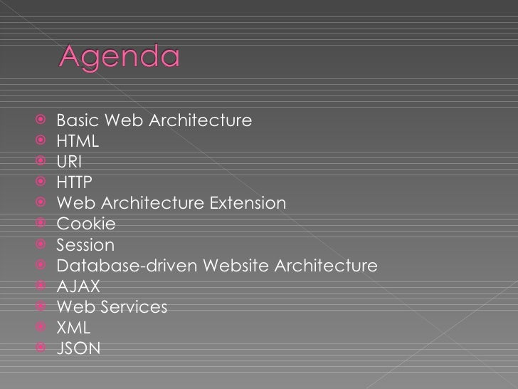 Introduction to Web Architecture Slide 3