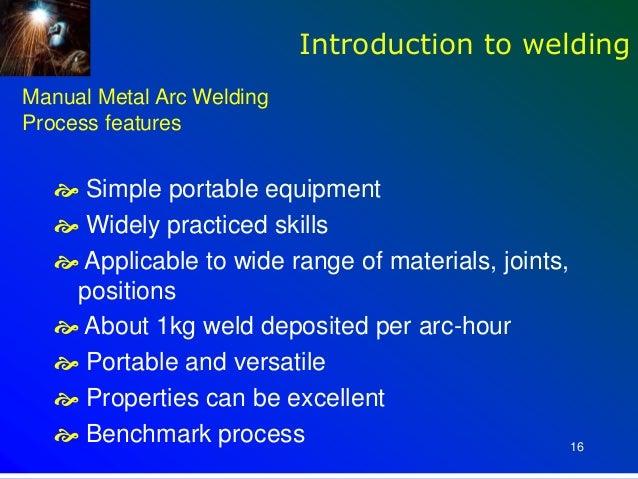 Introduction to Welding introduction to welding process