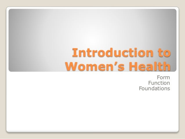 Introduction to Women's Health Form Function Foundations