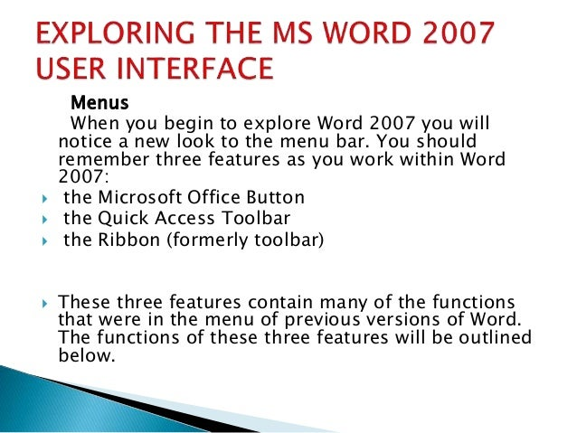 introduction to word processing Introduction to word processing 1 the microsoft wordallen national high school 2 • it allows you to create professional lookingdocuments quickly and efficiently.
