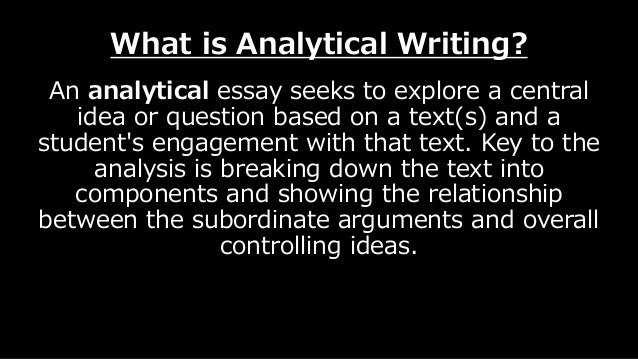 introduction to analytical writing Study university study demands 'critical' or 'analytical' writing sometimes just   argument, clearly set out in your introduction, which runs throughout your essay.