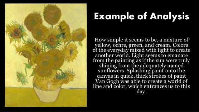comparative art analysis example