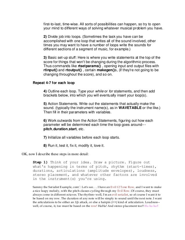 writing algorithms An algorithm is a fancy to-do list for a computer algorithms take in zero or more inputs and give back one or more outputs a recipe is a good example of an algorithm because it tells you what you need to do step by step.