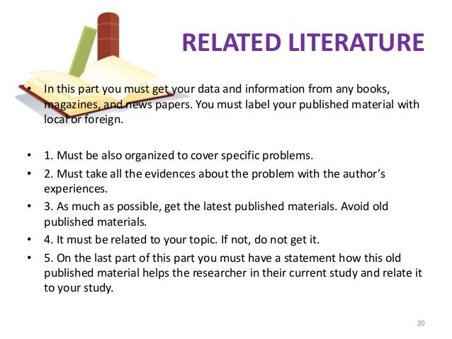 related literature and studies about ojt and marketing A review of related literature is the process of collecting, selecting, and reading books, journals, reports, abstracts, and other reference materials the following information may be collected: 1.