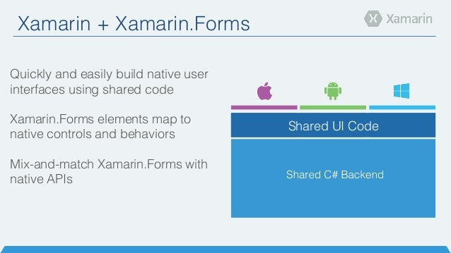 Introduction to xamarin forms for Xamarin architecture