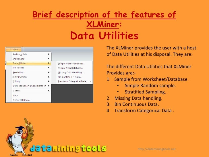 Introduction to Data Mining<br />Definition:<br />Data mining (or Knowledge Discovery) refers to the process of analyzing ...