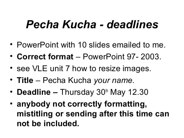 pecha kucha template powerpoint - introduction to year 3
