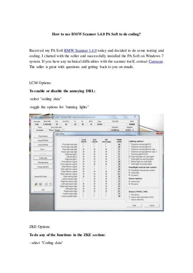 introduction use bmw scanner 1 4 0 pa soft to do coding. Black Bedroom Furniture Sets. Home Design Ideas