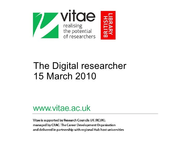 The Digital researcher 15 March 2010