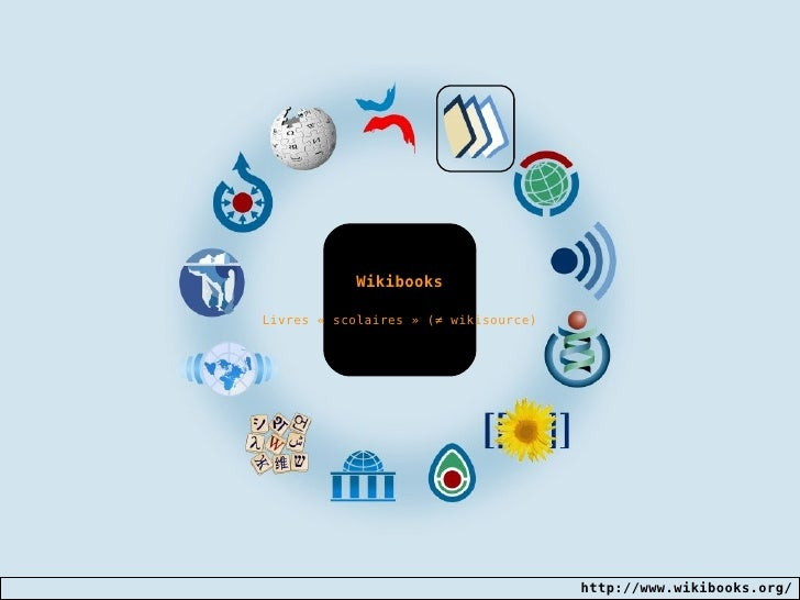 Wikibooks Livres «scolaires» ( ≠  wikisource)