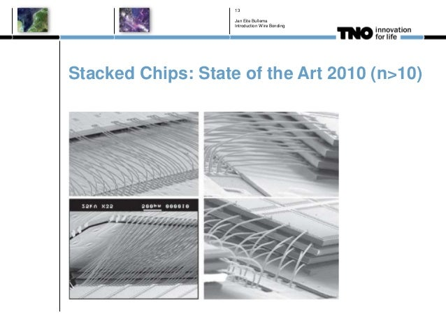 Stacked Chips: State of the Art 2010 (n>10) Jan Eite Bullema Introduction Wire Bonding 13