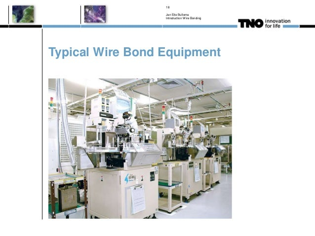 Typical Wire Bond Equipment Jan Eite Bullema Introduction Wire Bonding 18