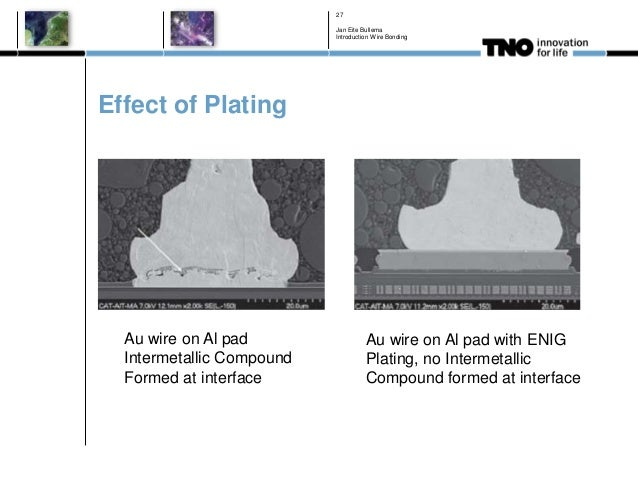 Effect of Plating Jan Eite Bullema Introduction Wire Bonding 27 Au wire on Al pad Intermetallic Compound Formed at interfa...