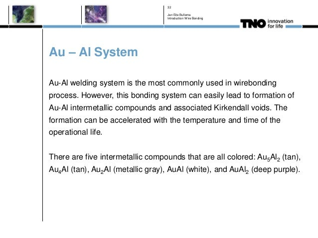 Au – Al System Au-Al welding system is the most commonly used in wirebonding process. However, this bonding system can eas...