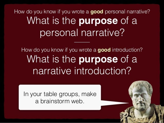 whats a personal narrative essay Writing an engaging personal narrative essay requires you to focus on both the  key points of information to be conveyed as well as the many details which make .