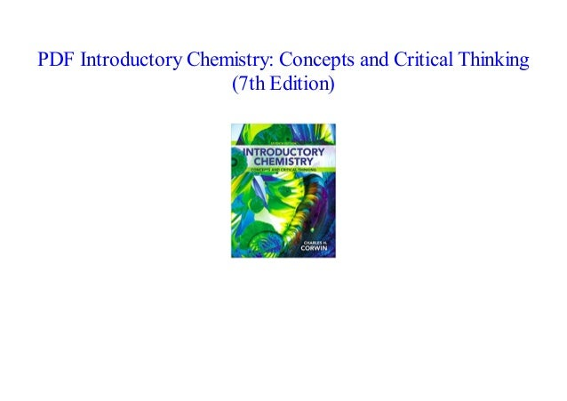 PDF] Introductory Chemistry: Concepts and Critical Thinking (7th Edi…