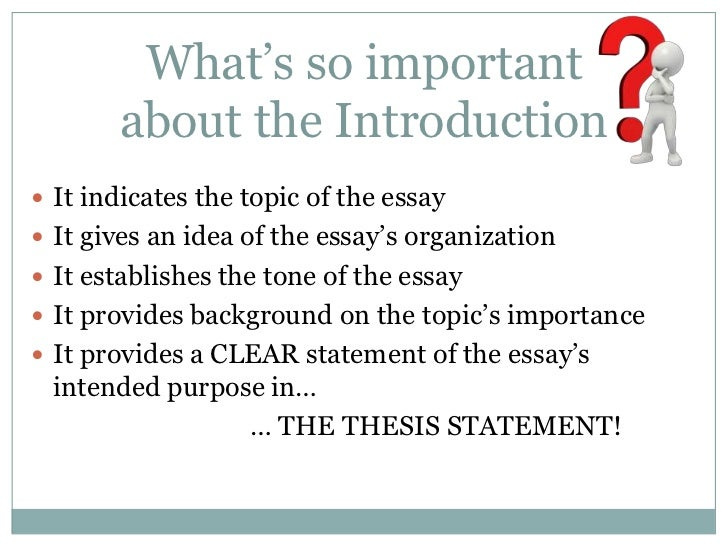 good intro to an essay The introductory paragraph the paragraph that begins an essay causes students the most trouble, yet carries the most importance although its precise construction varies from genre to genre (and from essay to essay), good introductory paragraphs generally accomplish the same tasks and follow a few basic patterns.