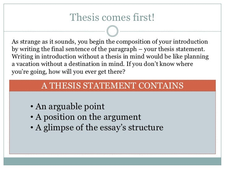 introductory paragraph  bridge to thesis statement • thesis statement 4