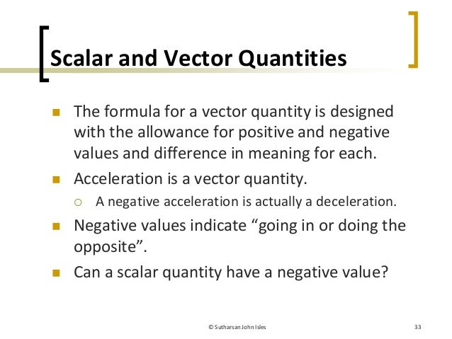 Chapter 6 Vectors and Scalars - PBTE