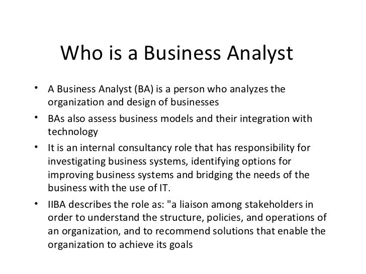Who is a Business Analyst