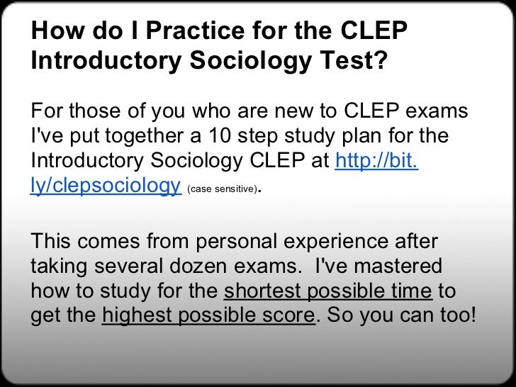 Free clep study guides peterson