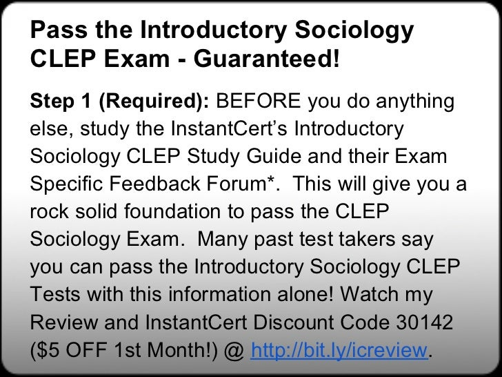 FREE Sociology CLEP Study Guides | Discover this Secret to ...