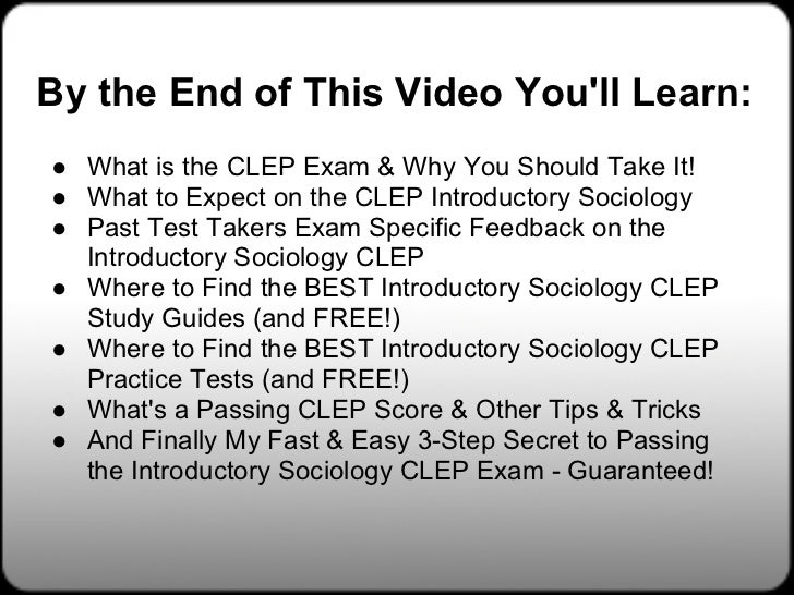 Study Guide for Introductory Sociology CLEP