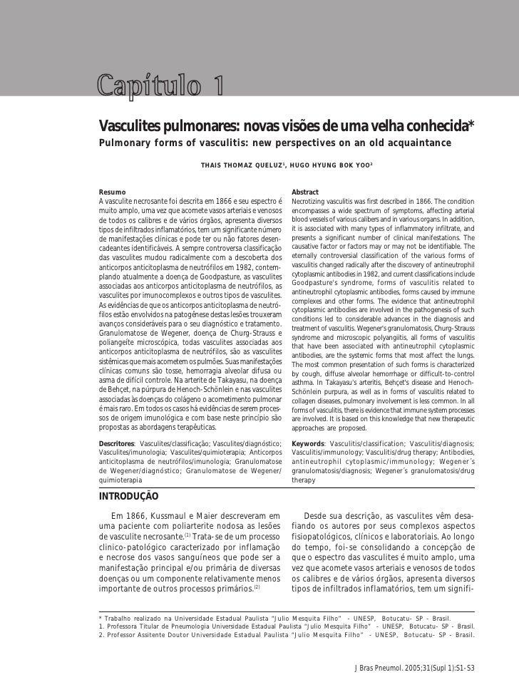 Vasculites pulmonares: novas visões de uma velha conhecida                                                                ...
