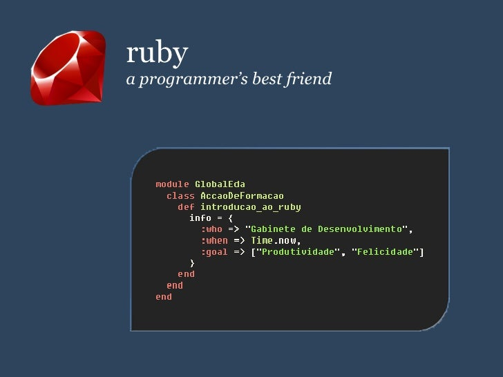 ruby a programmer's best friend