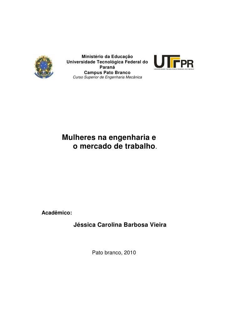 Ministério da Educação         Universidade Tecnológica Federal do                       Paraná                           ...