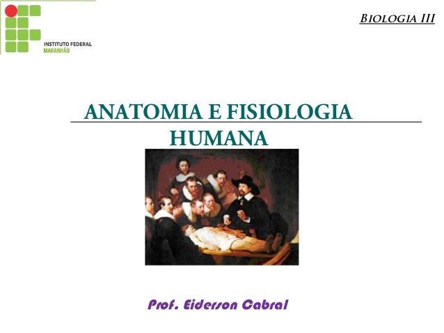 Introdução anatomia e fisiologia humana
